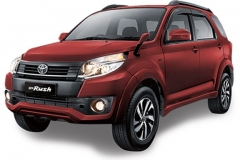 Toyota Rush Bali Dark Red Mica Metallic - New Rush